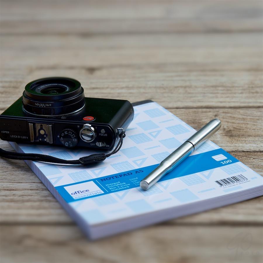 365-dagenblog kladblok en camera